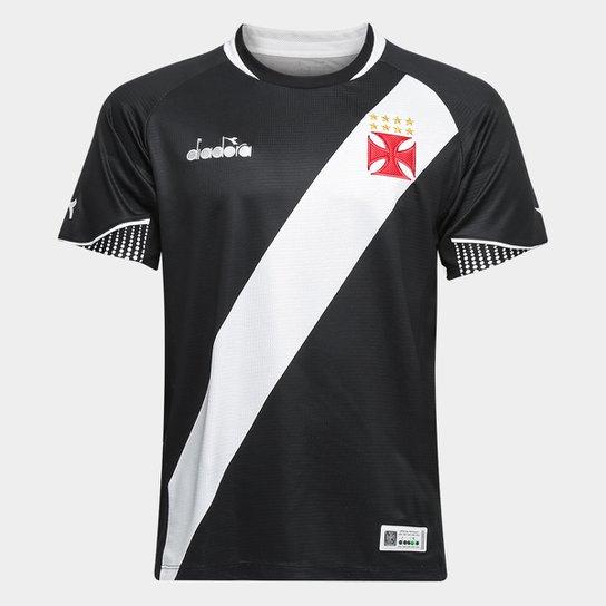 Camisa Vasco I 2018 s/n° - Torcedor Diadora Masculina - Preto