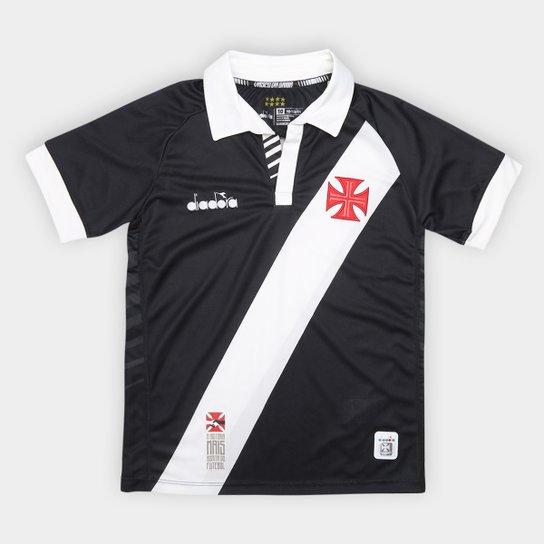 Camisa Vasco I Juvenil 19/20 s/nº Torcedor Diadora - Preto