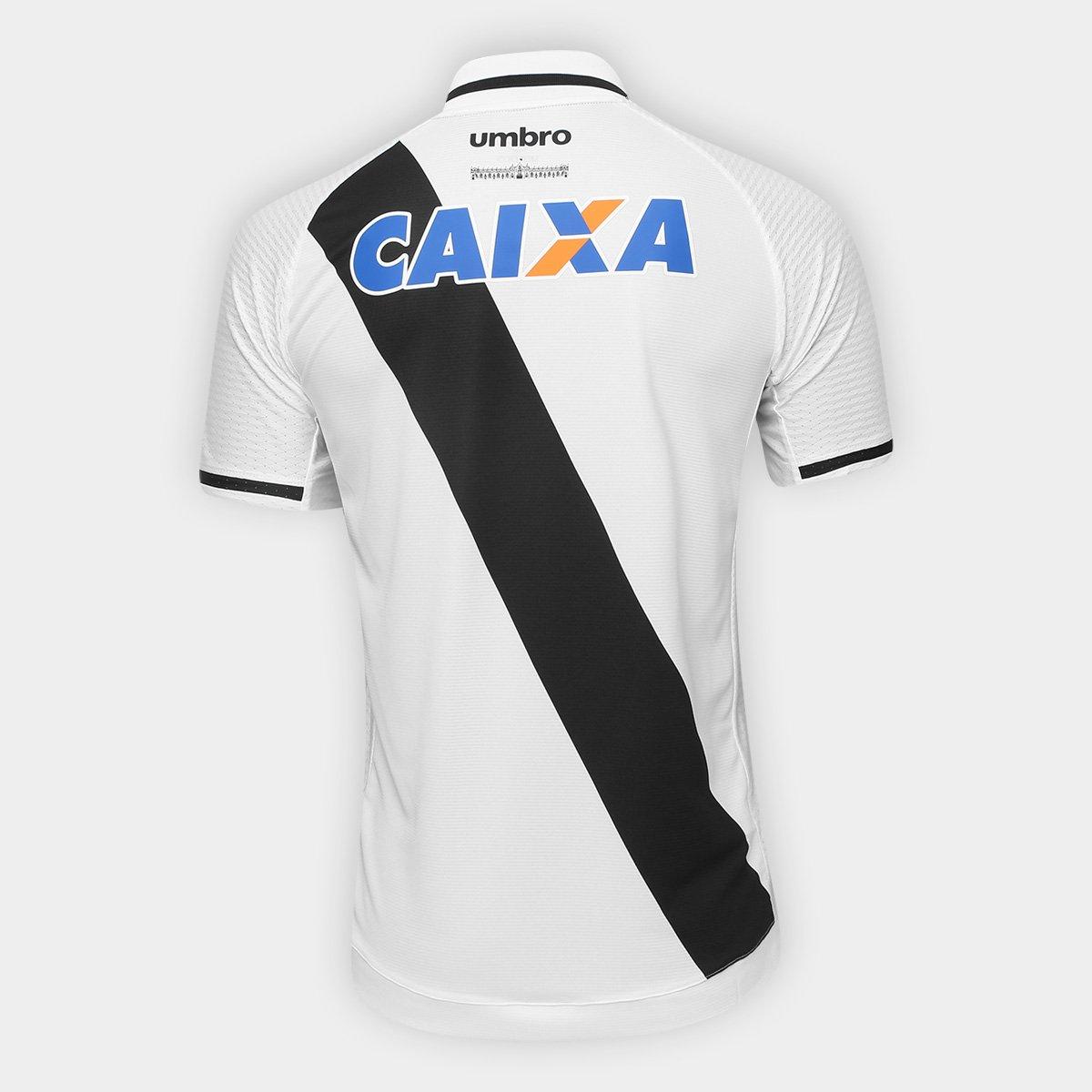 Camisa Vasco II 17 18 s n° Torcedor Umbro Masculina - Branco e Preto ... d5d5d061bc1c4