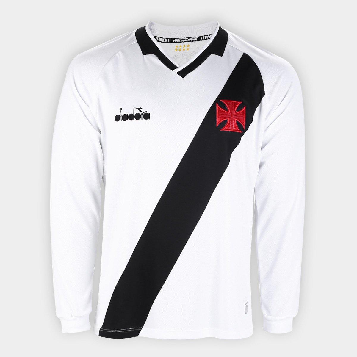 ae682bef62cfa Camisa Vasco II 19 20 s n° Manga Longa- Torcedor Diadora Masculina - Branco  - Compre Agora