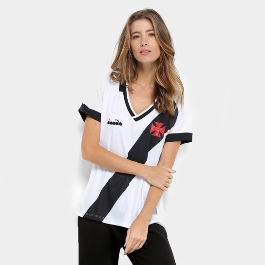 Camisa Vasco II 19/20 s/n° - Torcedor Diadora Feminina - Branco