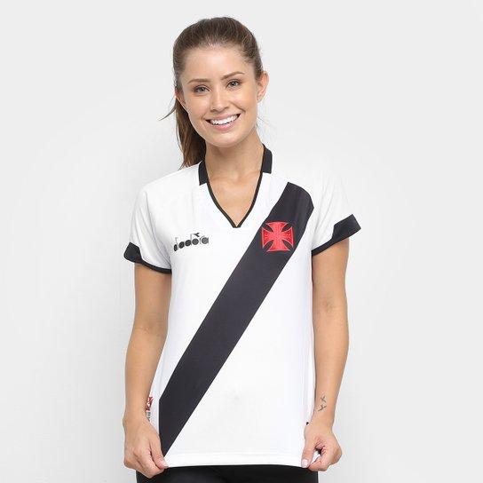 Camisa Vasco II 2020 s/nº Torcedor Diadora Feminina - Branco