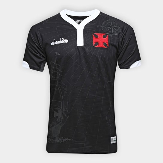 Camisa Vasco III 2018 s/n° - Torcedor Diadora Masculina - Preto