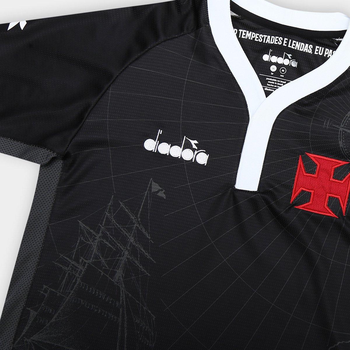 Camisa Vasco III 2018 s n° - Torcedor Diadora Masculina - Preto ... 2e36ef97e07cb