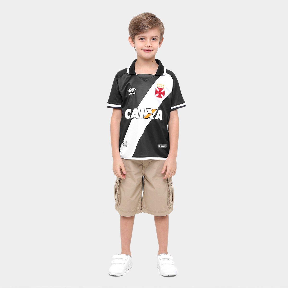 Camisa Vasco Infantil I 17 18 nº 10 - Torcedor Umbro - Preto e ... c4a58e1905a57