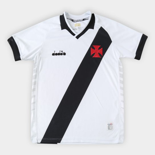 Camisa Vasco Infantil II 19/20 s/n° - Torcedor Diadora - Branco