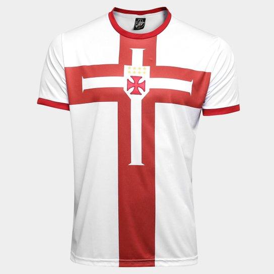 Camisa Vasco Templária Ed. Limitada Masculina - Branco+Vermelho