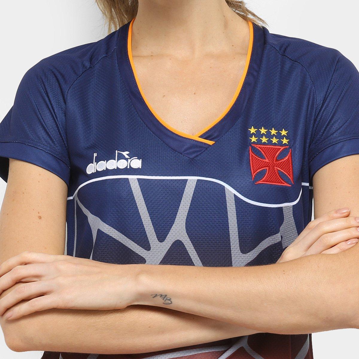 Vasco 2018 Diadora Feminina Marinho Treino Treino Vasco 2018 Atleta Camisa Camisa BT4xcqA