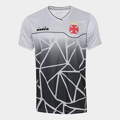 5c35378649528 Camisa Vasco Treino 2018 Diadora Masculina - Cinza e Preto | Netshoes