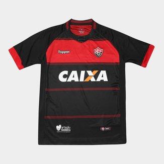 Camisa Vitória Infantil I 2018 s/n° Torcedor Topper