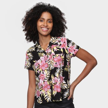 Camisa Volcom Floral Forget Yourself Feminina