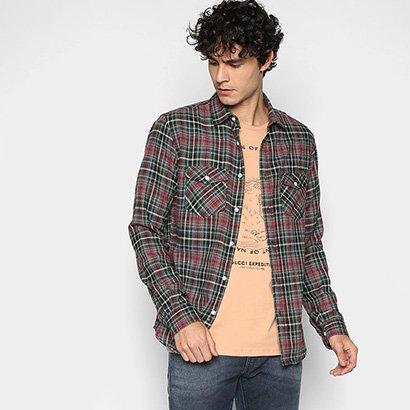 Camisa Xadrez Manga Longa Colcci Flanelada Classic Masculina - Masculino