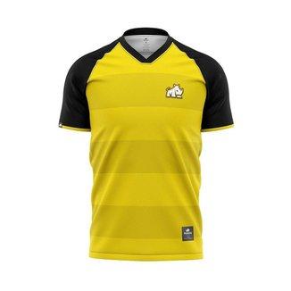 Camisa YellowBorussia De Passeio Dry Rinno Force Europa Masculino