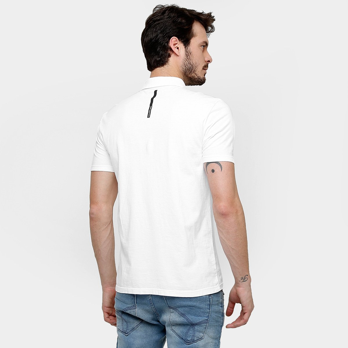 Camisas Polo Calvin Klein Malha - Compre Agora   Netshoes 82d9854ca2