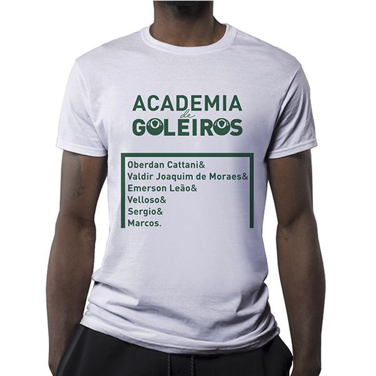 Camiseta Academia De Goleiros Masculina - Branco - Compre Agora ... 3b0b6106d14