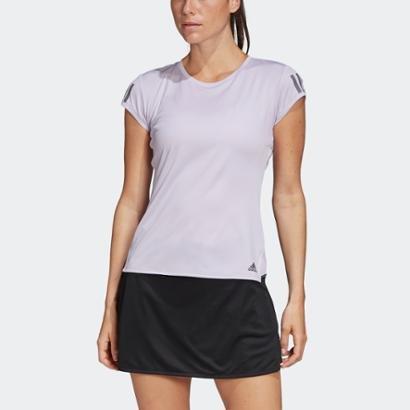 Camiseta Adidas 3-Stripes Club Purple Tint Feminina