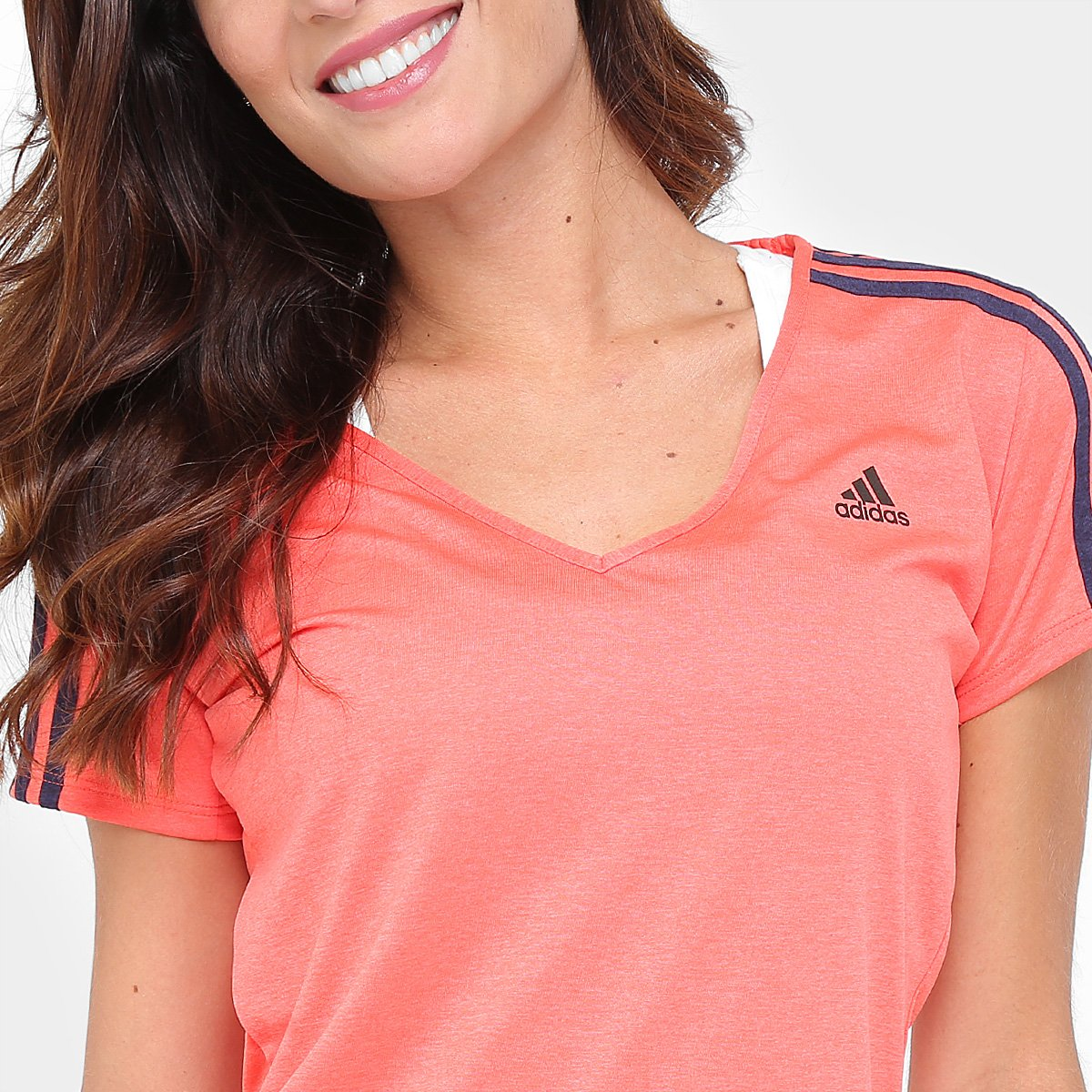 Adidas Feminina Coral 3S Essential Camiseta Essential Camiseta Adidas 3S Feminina q6tZ4p