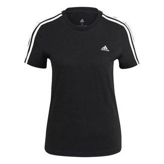 Camiseta Adidas 3s Preto Feminino