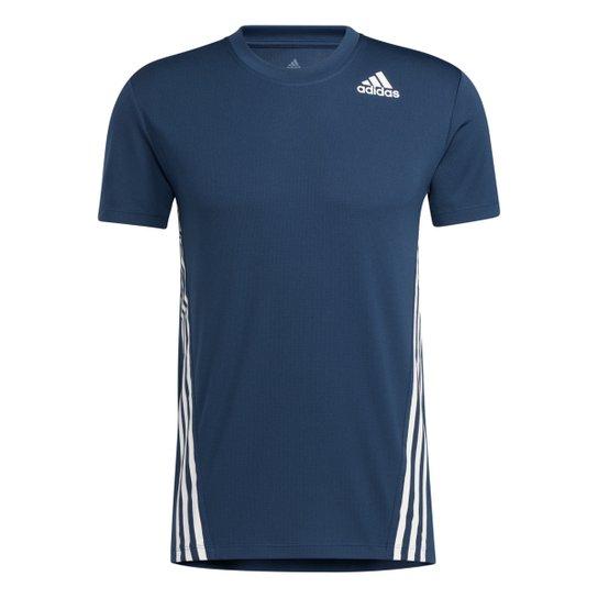 Camiseta Adidas Aero 3 Listra Masculina - Azul