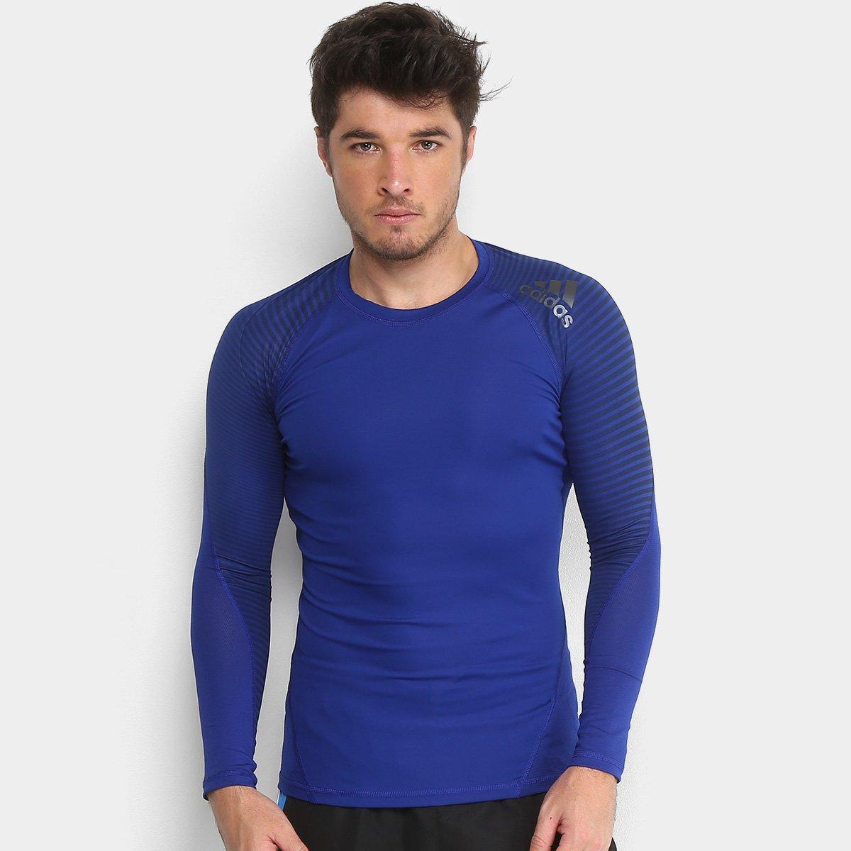 Camiseta Adidas AlphaSkin Sport Graphic Manga Longa Masculina - Compre  Agora  e2a37170fa10d