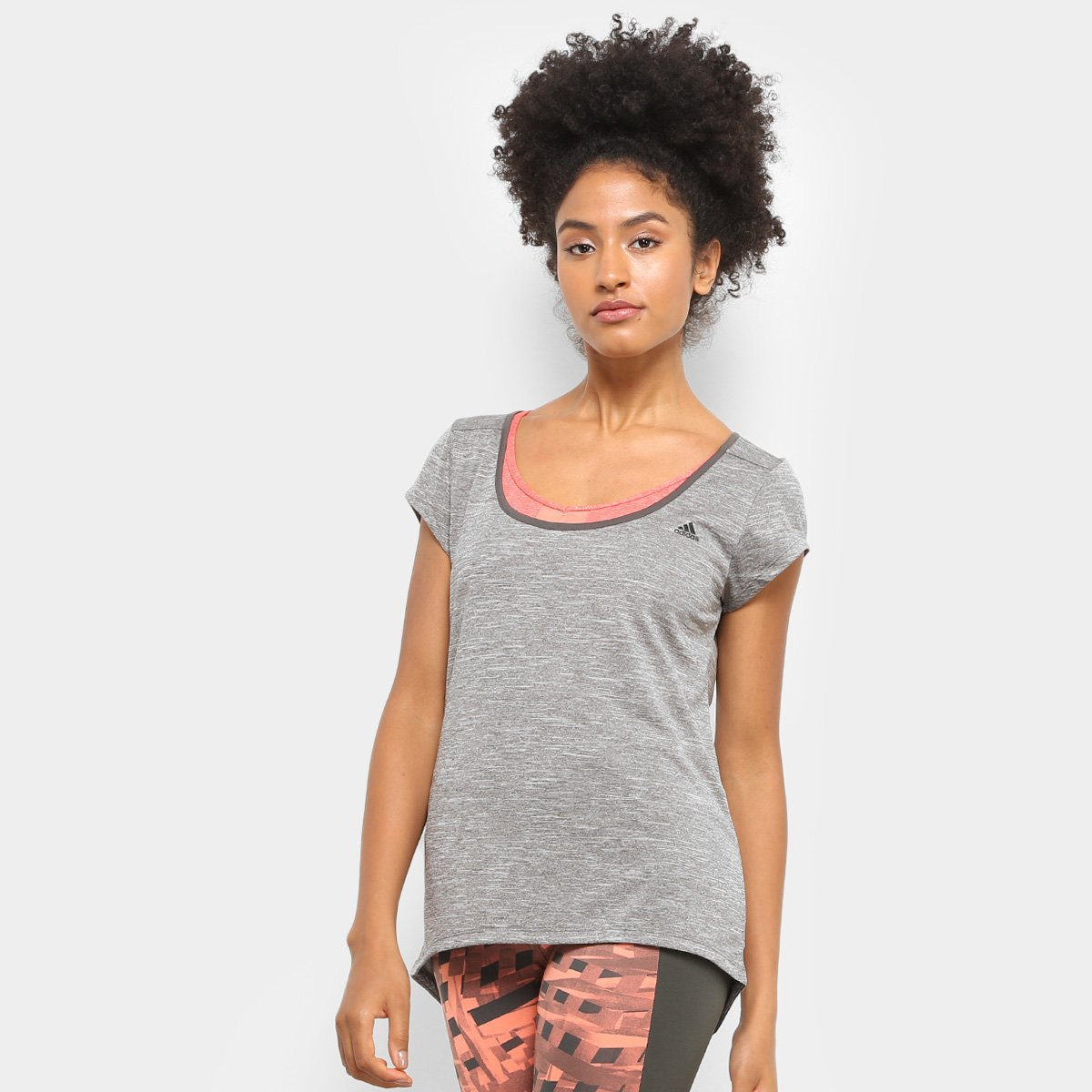 Camiseta e Adidas Baby Feminina Adidas Preto Baby Camiseta Bro Cinza dxZtf8