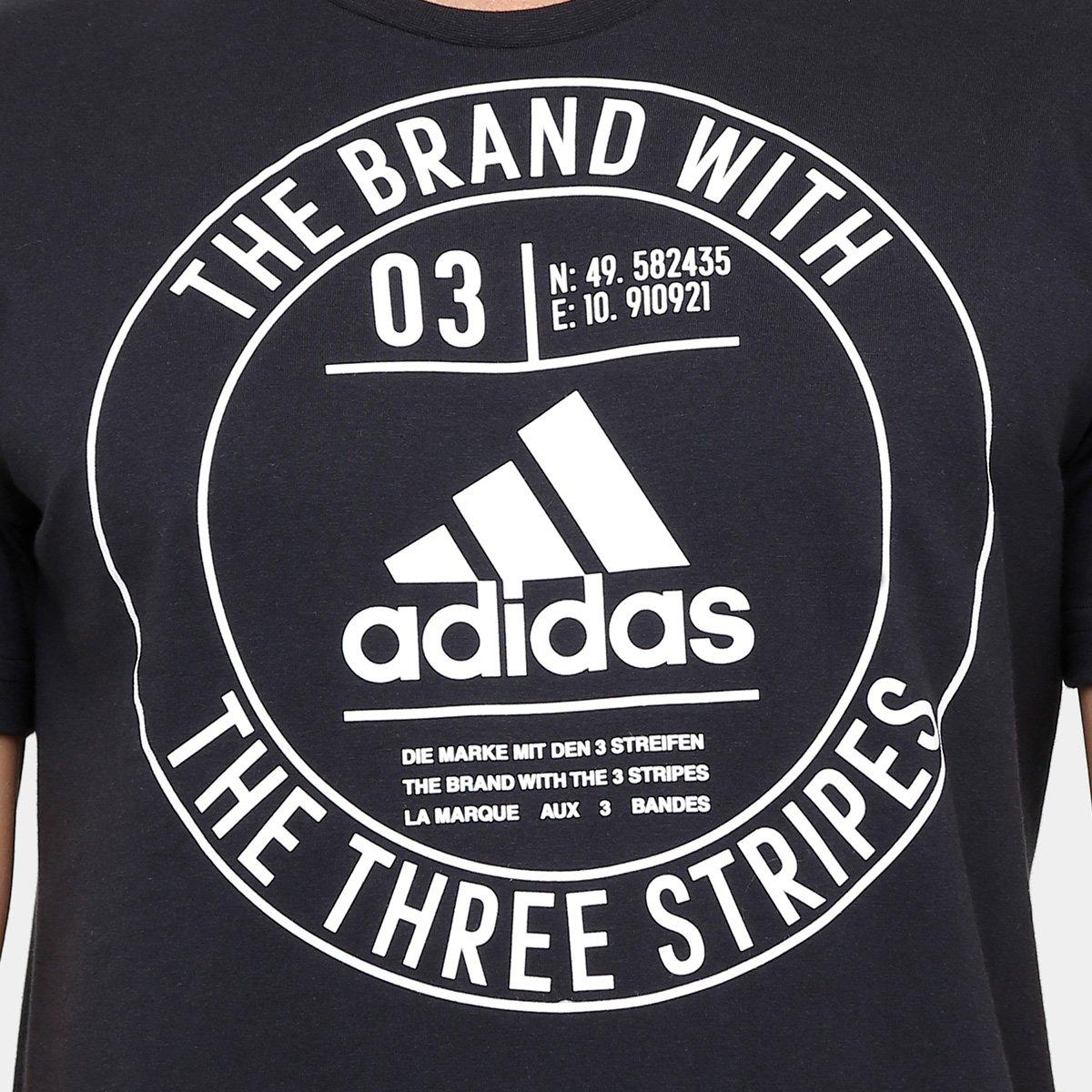 Camiseta Adidas Badge Masculina - Preto - Compre Agora  5ff22d4e93b