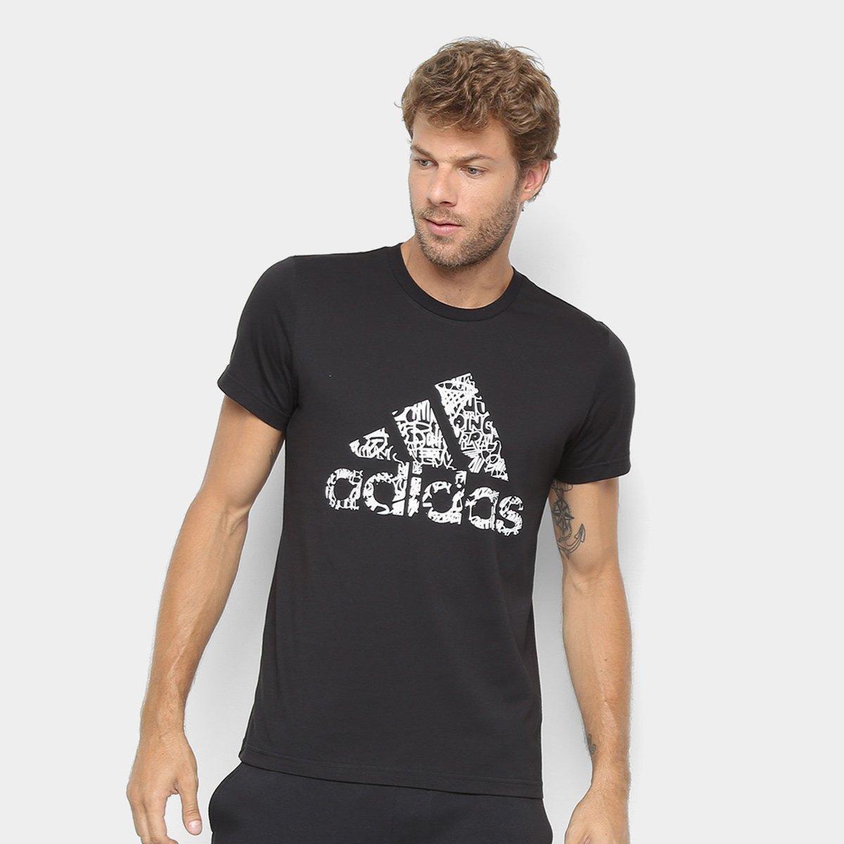 Camiseta Adidas Badge of Sports Masculina - Preto - Compre Agora ... 0482e933ad7