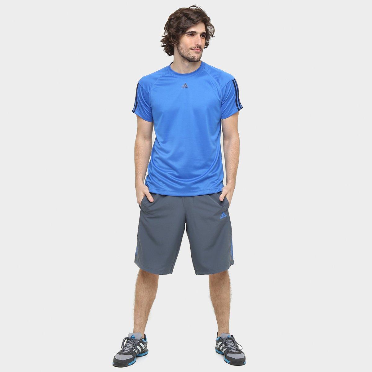 Camiseta Adidas Base 3S Masculina - Compre Agora  597113876350a