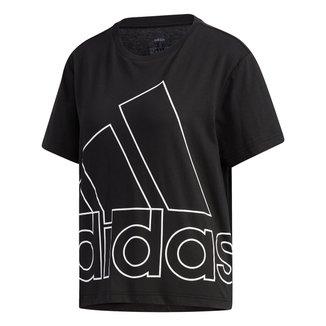 Camiseta Adidas Big Logo Vazado Feminina