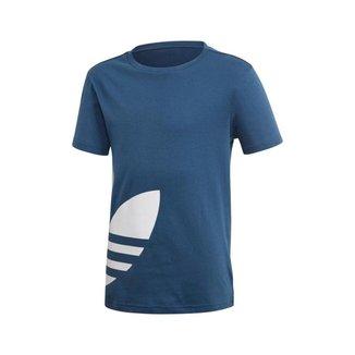 Camiseta Adidas Big Trefoil Azul Infantil