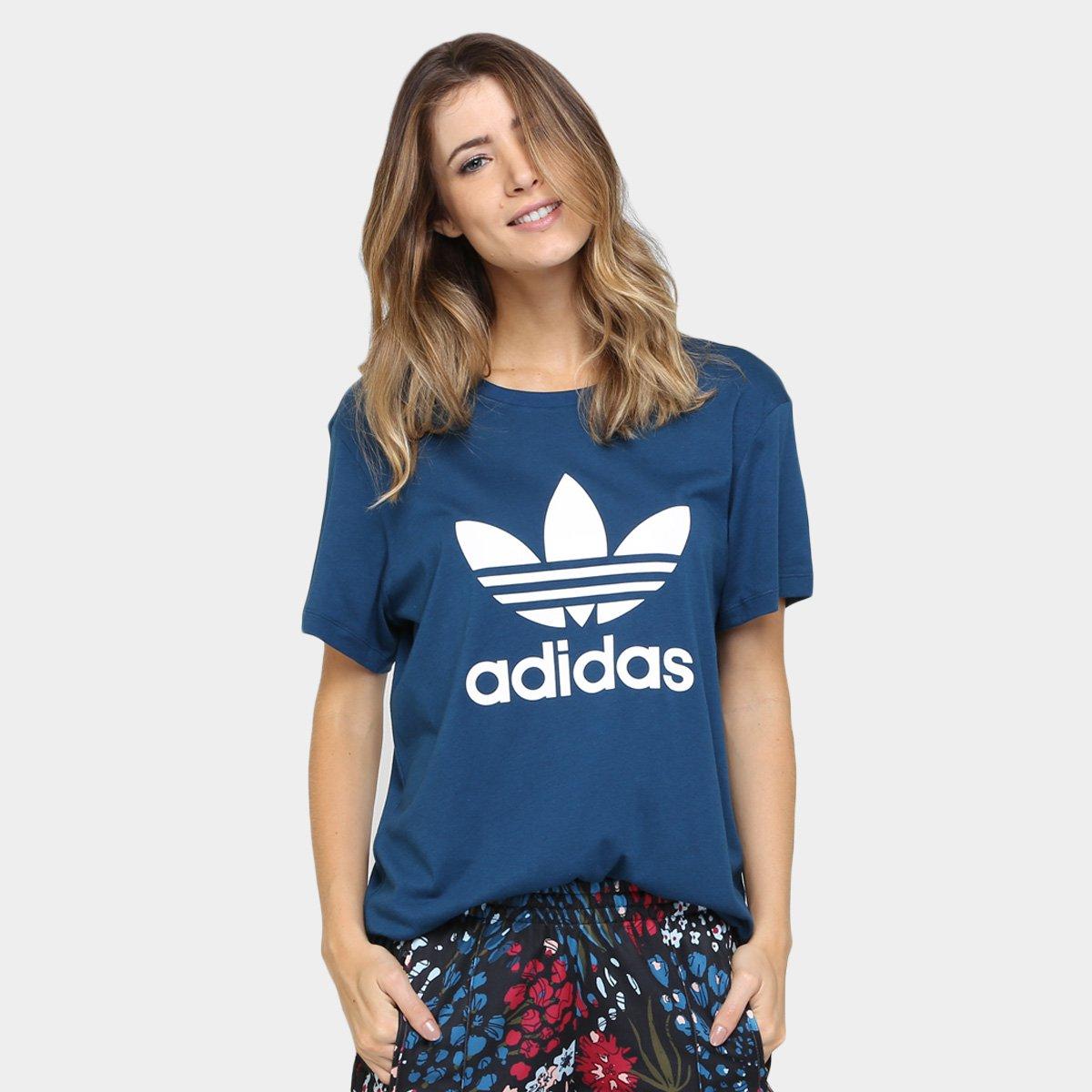 camiseta adidas boyfriend trefoil