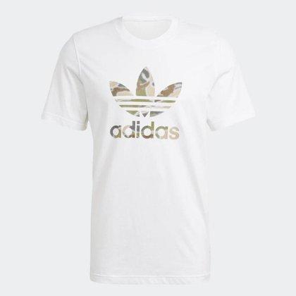 Camiseta Adidas Branca Camuflada