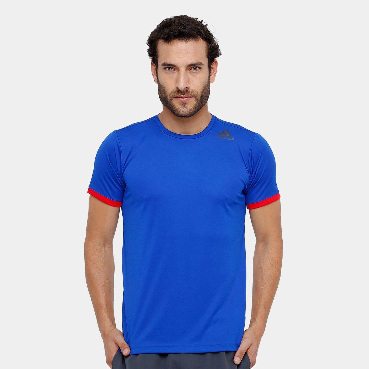 Camiseta Adidas Climalite Masculina - Azul - Compre Agora   Netshoes 686b437bbe