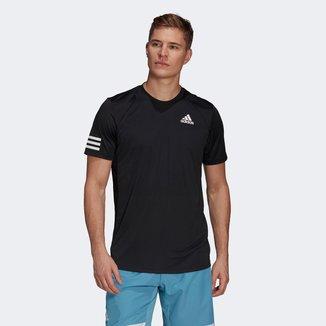 Camiseta Adidas Club 3 Listras Masculina