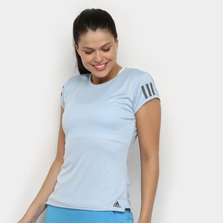 Camiseta Adidas Club 3 Stripes Feminina