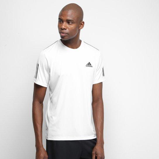 Camiseta Adidas Club 3 Stripes Masculina - Branco+Preto