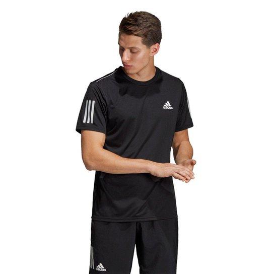 Camiseta Adidas Club 3S Tee Masculina - Preto+Branco