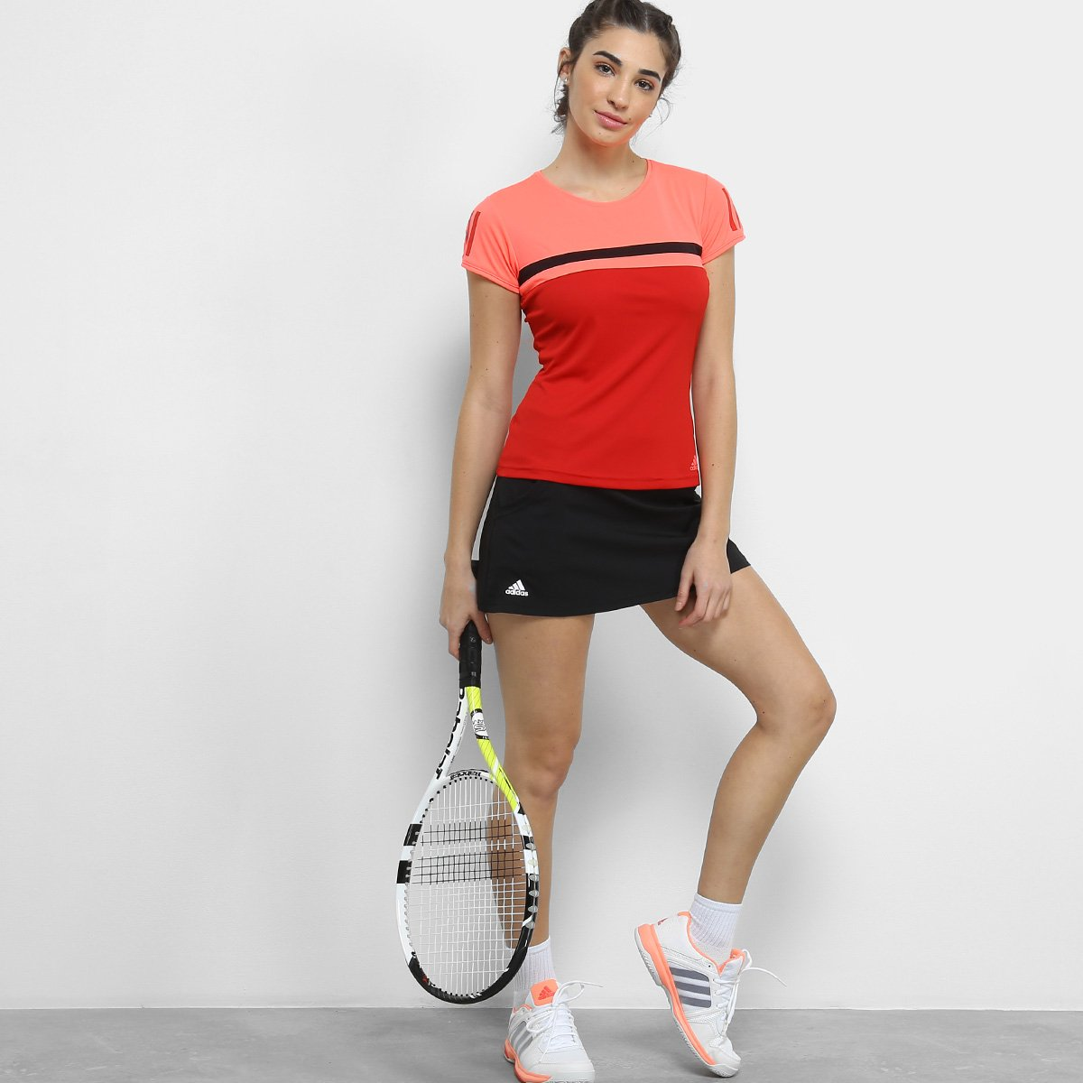 Camiseta Camiseta Adidas Adidas Vermelho Club Feminina 50rdCrwxq