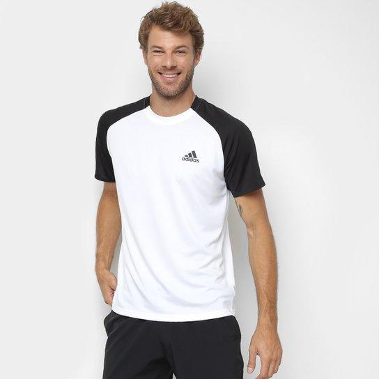 Camiseta Adidas Club Td Masculina - Branco+Preto