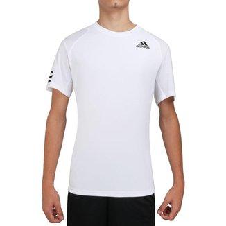 Camiseta Adidas Club Tennis 3S Branca e Preta