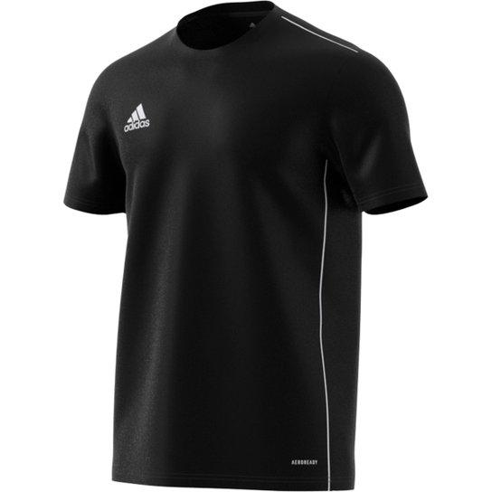 Camiseta Adidas Core 18 Masculina - Preto+Branco