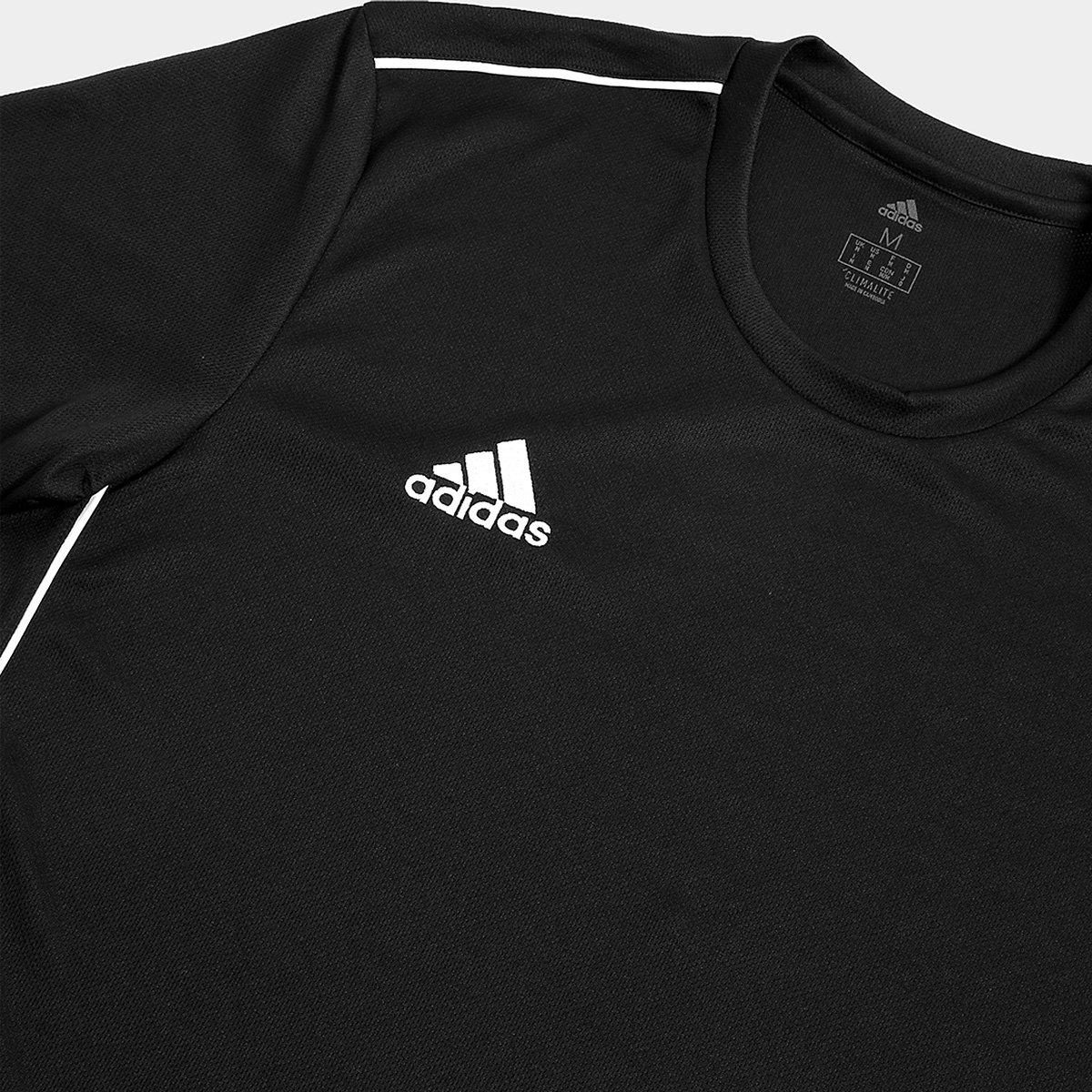 Camiseta Adidas Core 18 Masculina - Preto e Branco - Compre Agora ... 706f68e4789d8