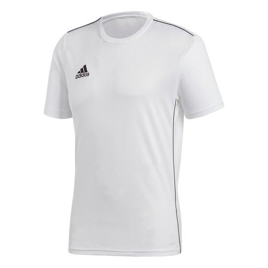Camiseta Adidas Core 18 Masculina - Branco+Preto
