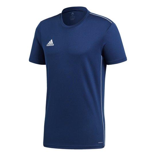 Camiseta Adidas Core 18 Masculina - Marinho+Branco