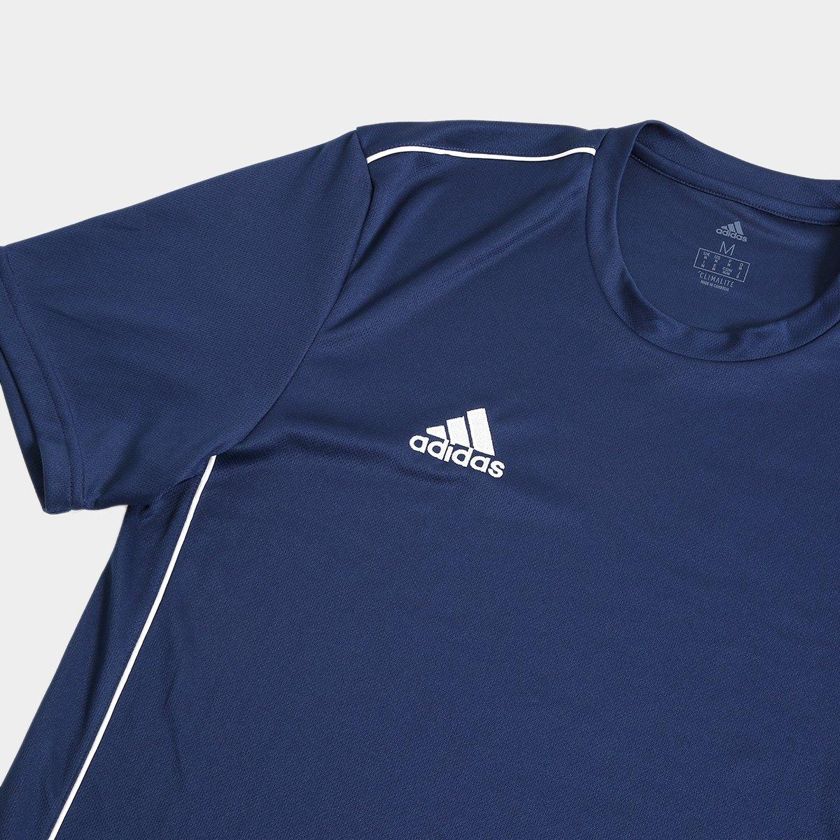 ... a8a04b3f3a6 Camiseta Adidas Core 18 Masculina - Marinho e Branco -  Compre Agora . 8c59336f23af2