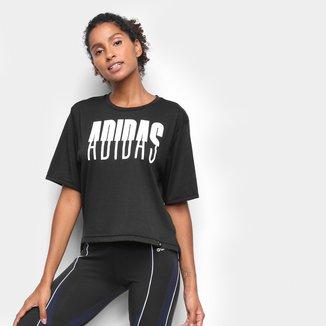 Camiseta Adidas Crop Feminina