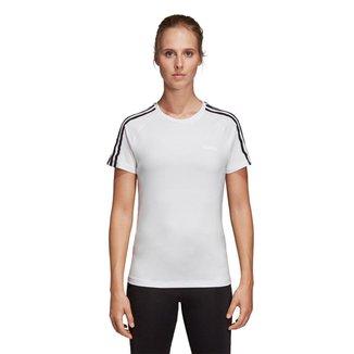 Camiseta Adidas D2M 3 Stripes Feminina