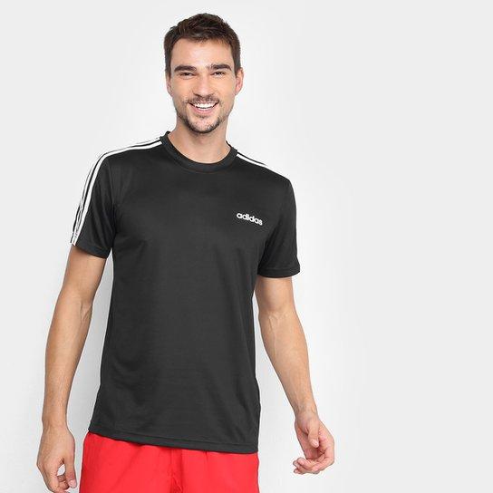 Camiseta Adidas D2M Ar 3Stripes Masculina - Preto+Branco