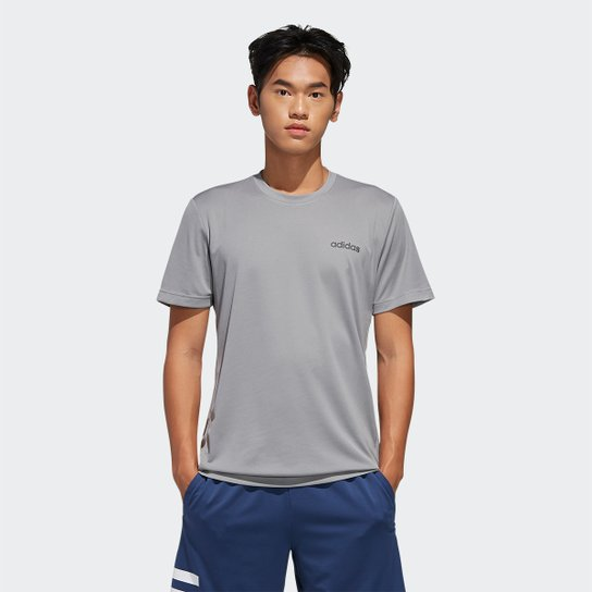 Camiseta Adidas D2M Ar Plain Masculina - Cinza