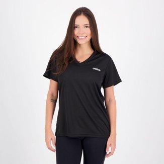 Camiseta Adidas D2M Solid Feminina Preta